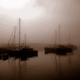 The Mevagissey harbor in the morning mist I.